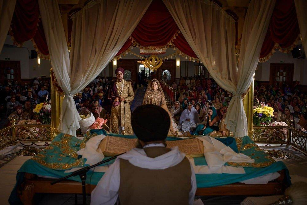 Luxury Indian Wedding Photography at Gravesend Gurdwara
