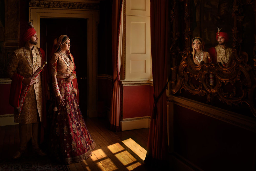 Luxury Indian Wedding Photography Hagley Hall Sikh and Dread Photography