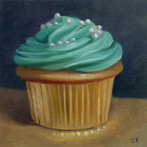 Teal Cupcake