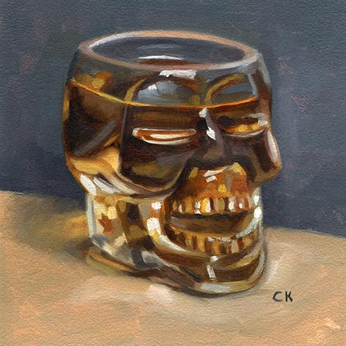 Kornacki Wabisabi Whiskey Skull Glass