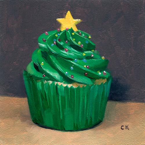 Kornacki WabiSabi Christmas Tree Cupcake
