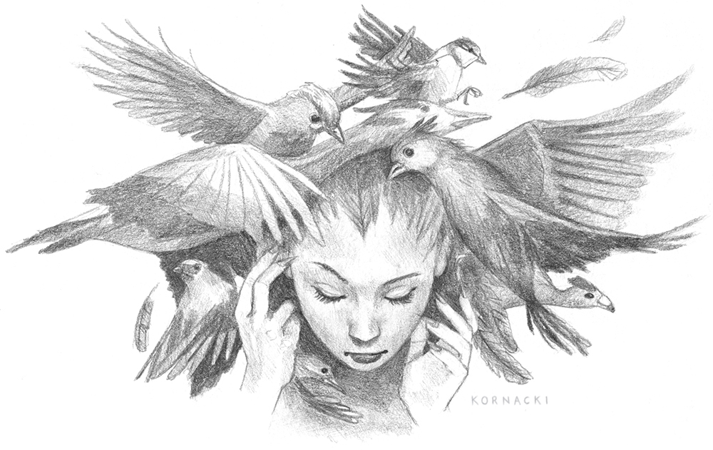 Pencil Drawing for the back of my Postcard.