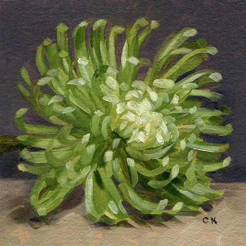 Kornacki WabiSabi Green Spider Chrysanthemum