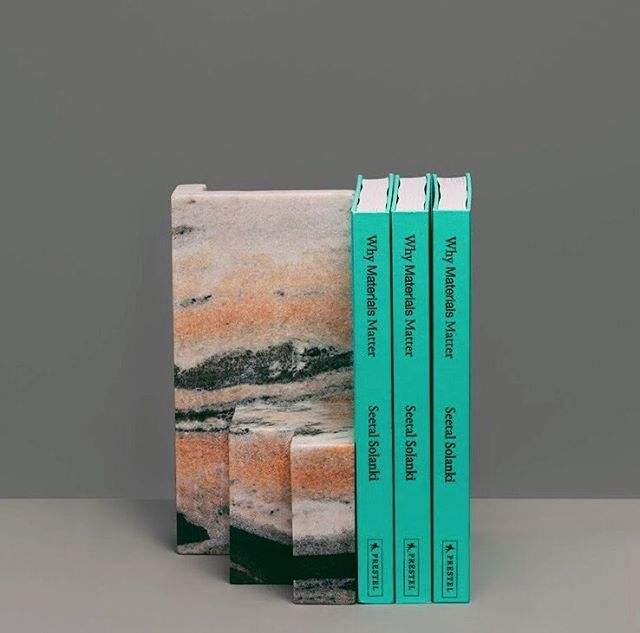 Honoured to be a part of the exhibition and book launch of 'Why Materials Matter' published by @prestel_uk @prestel_usa 2018 👏🏽👏🏽 Celebrating all things @ma_tt_er @seetalsolanki We have created one of a kind bookends, which will support the book and the book supports the material as well our practice!! A nice circular conversation whereby one could not exist without the other 🙌🏽 #londondesignfestival2018 #marbleoffcuts #whymaterialsmatter @l_d_f_official @brompton_design_district