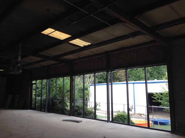 Progress on new storefront