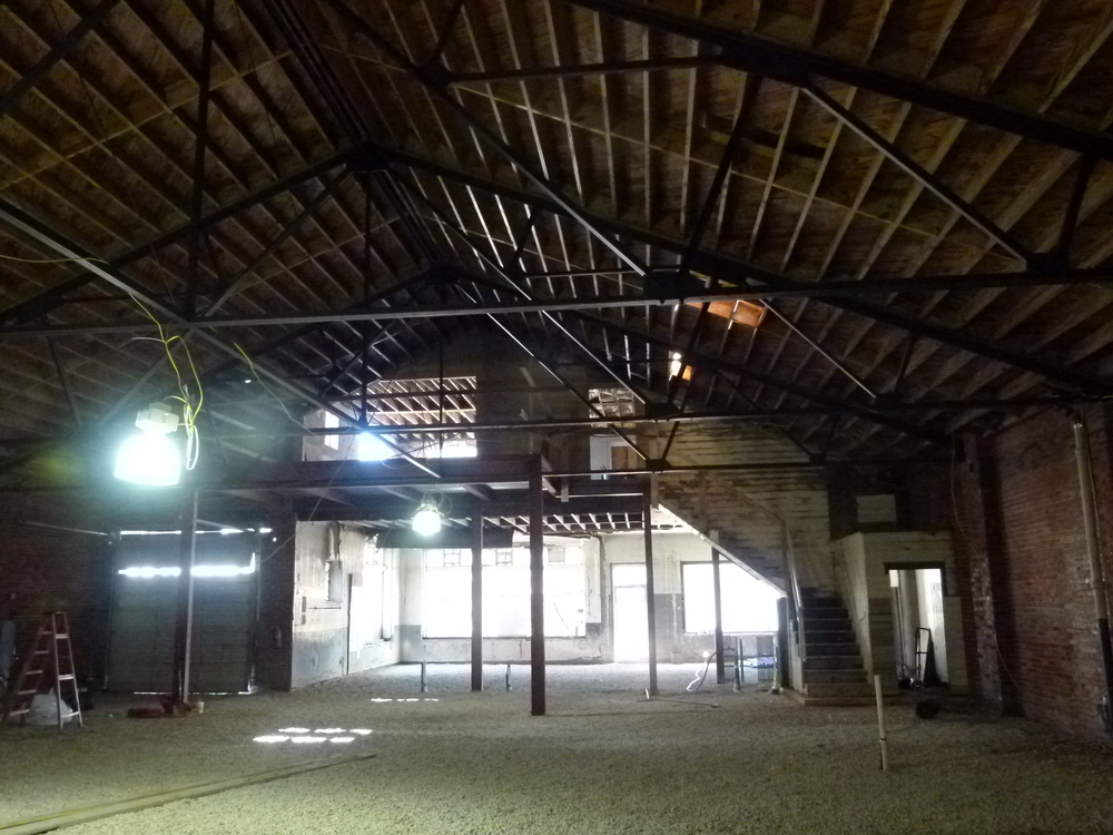Mezzanine under construction, March 2016