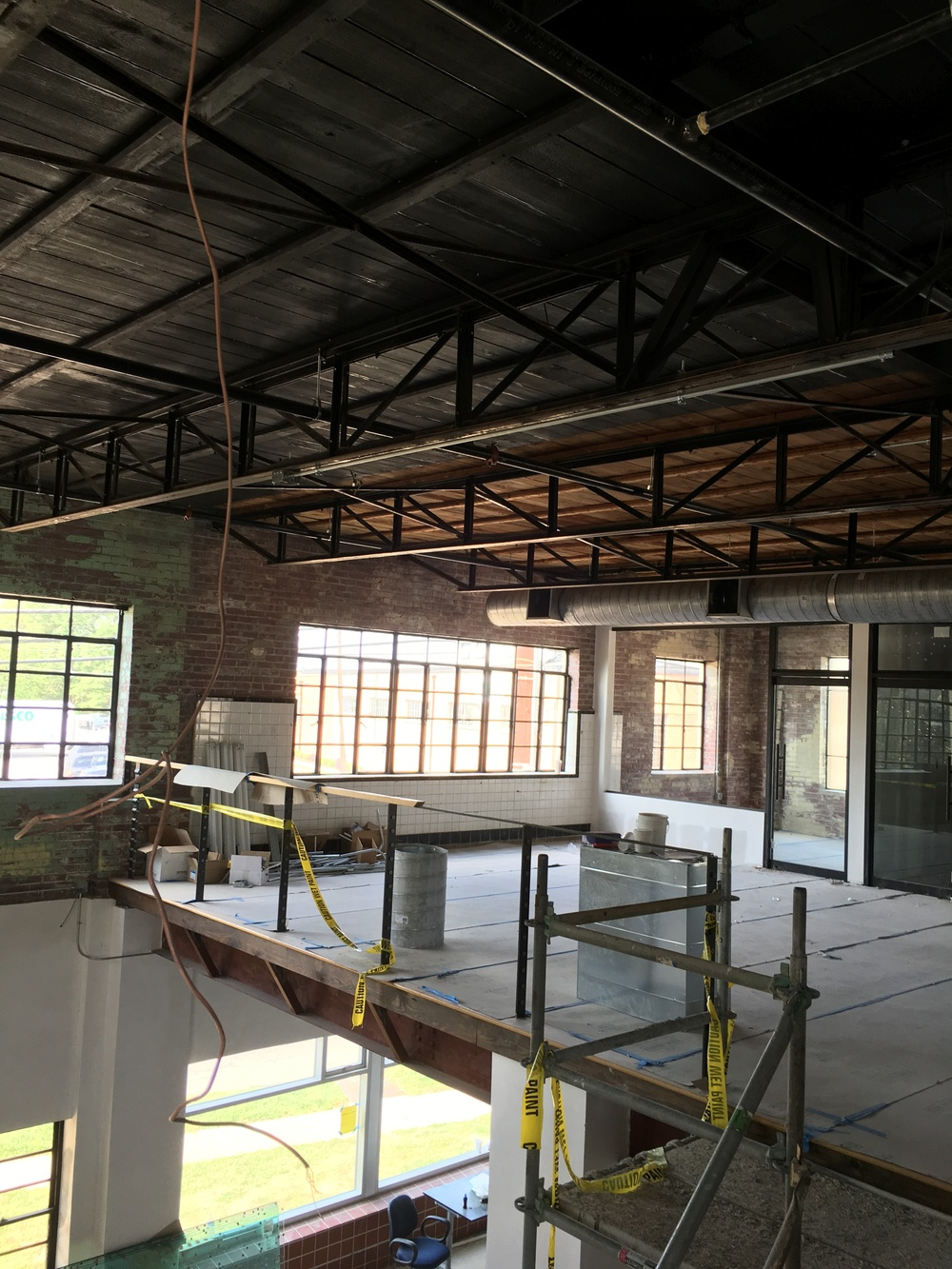 Second floor offices in former syrup room location
