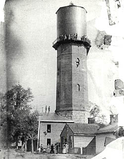 Historic view of Raleigh Water Tower Photo from National Register collection, courtesy of North Carolina Division of Archives and History