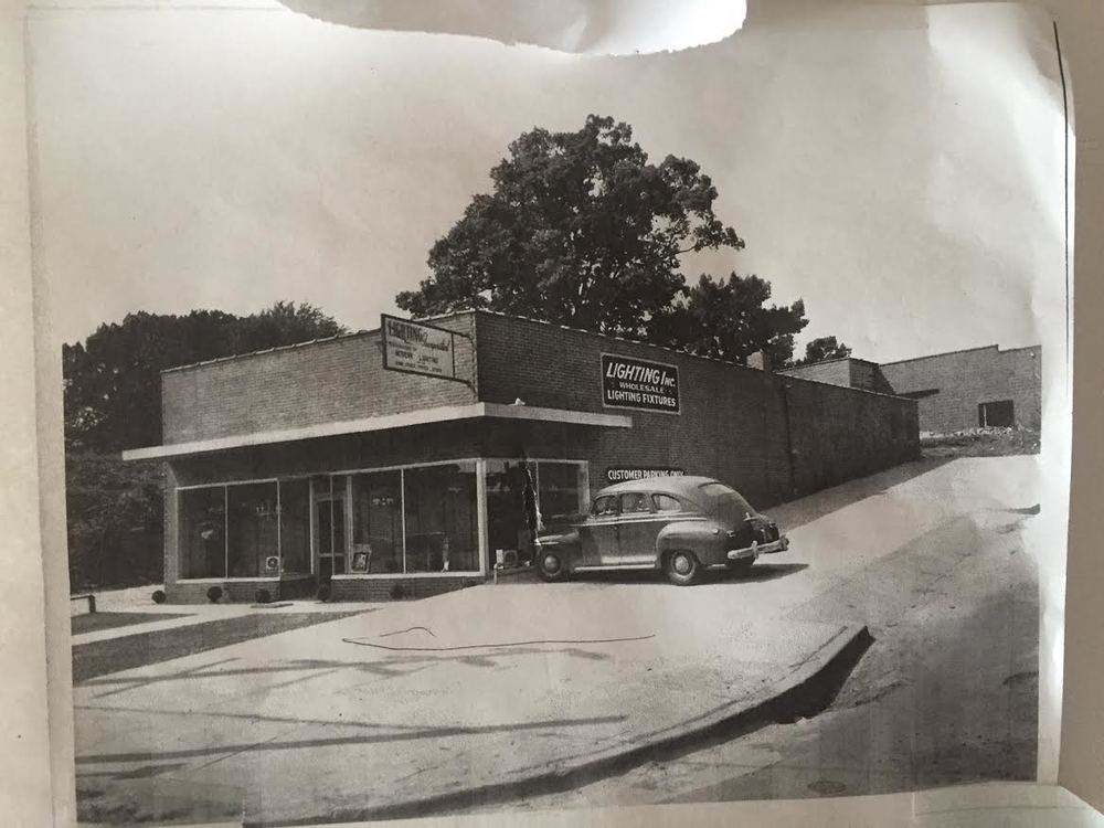 500 W. Peace and 707 N West, as seen from Peace St. circa 1950s