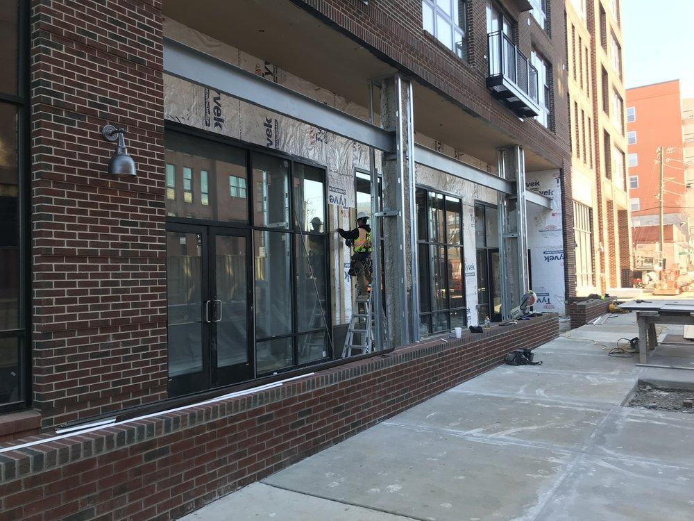 The future exterior entrance to Weaver Street Market.