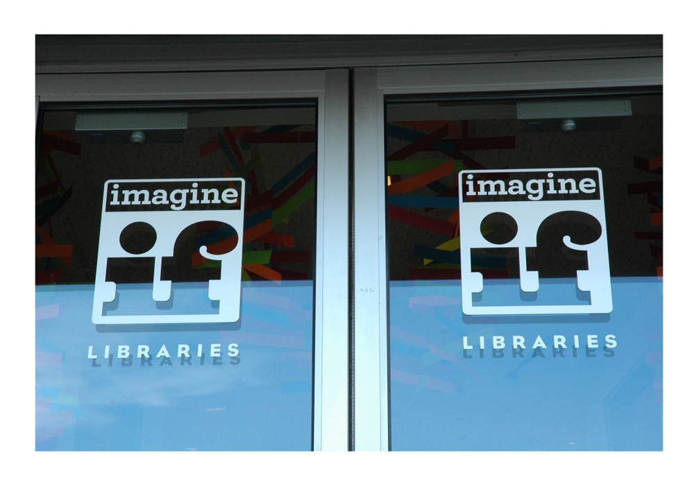 ImagineIF Libraries front door decal.jpg