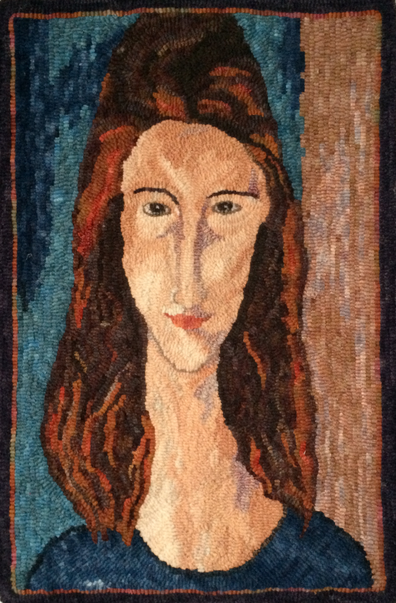 """Jeanne Hebuterne"" 2014  Adaptation from Amedeo Modigliani, 1919"