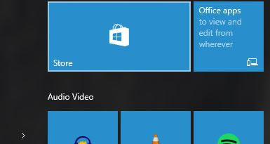 The Windows Store tile icon.