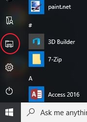 File Explorer circled in red.