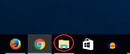 File Explorer circled in red