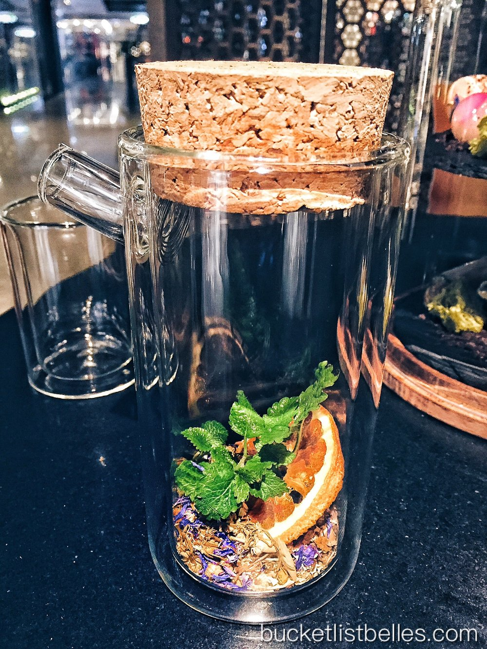 Secret Herbal Tea with camomile, violet, lemon balm, mint and dry orange