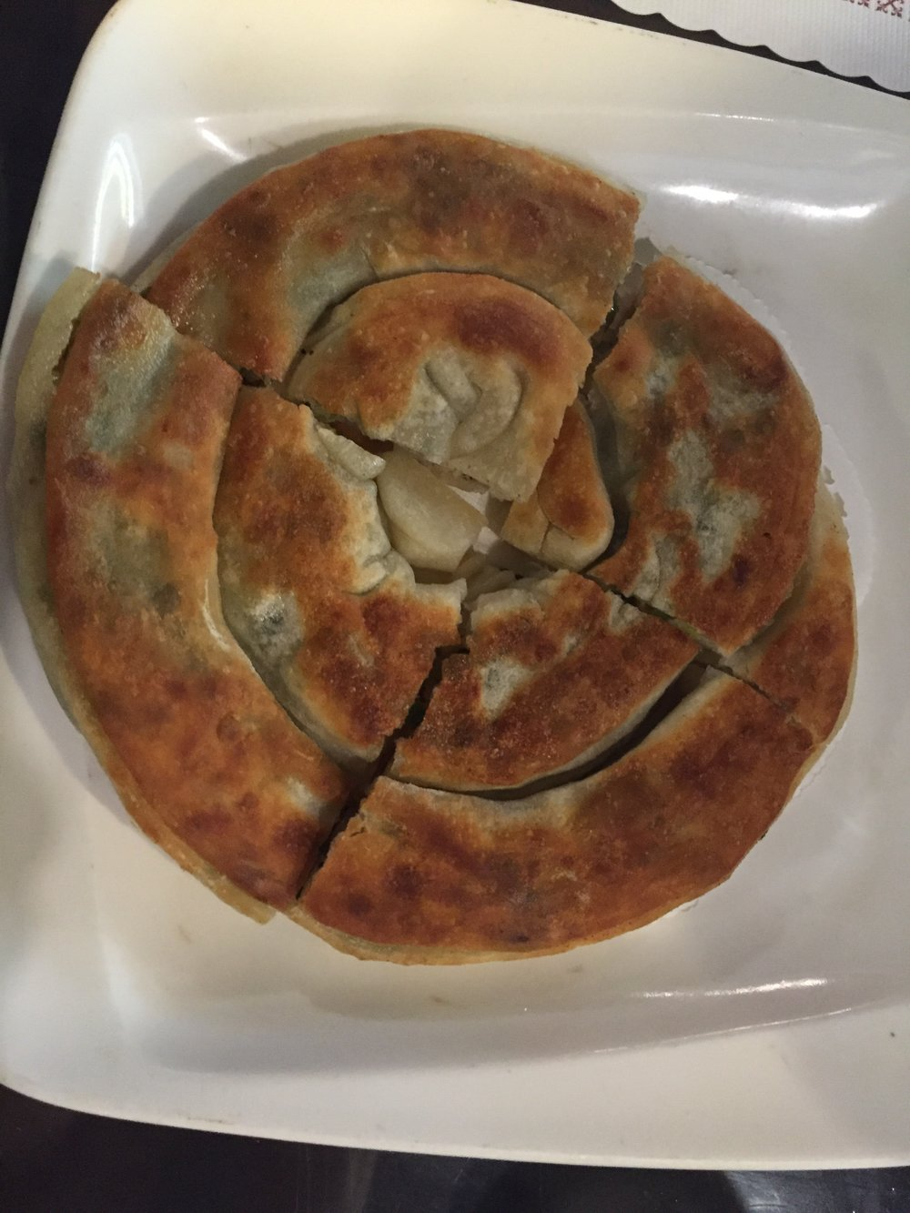 Deliciously crispy Green Onion Pancake