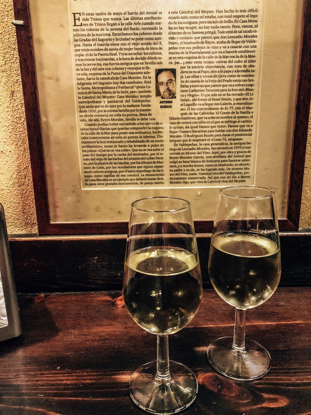 Dry Manzanilla sherry from Sanlucar de Barrameda
