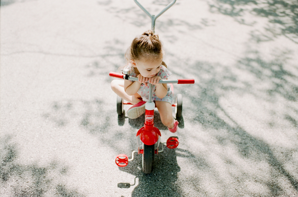 little girl on bike | DC family and film photographer | Yasmina Cowan Photography