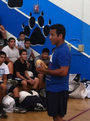 Wellness Training High School Football Team - Fidel Rodriguez