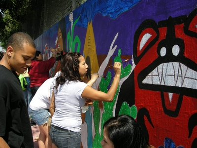 Community Mural Project / Spreading Seeds 2008
