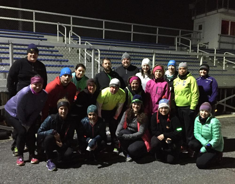Our Timonium 5k training group all bundled up after Thursday's run!
