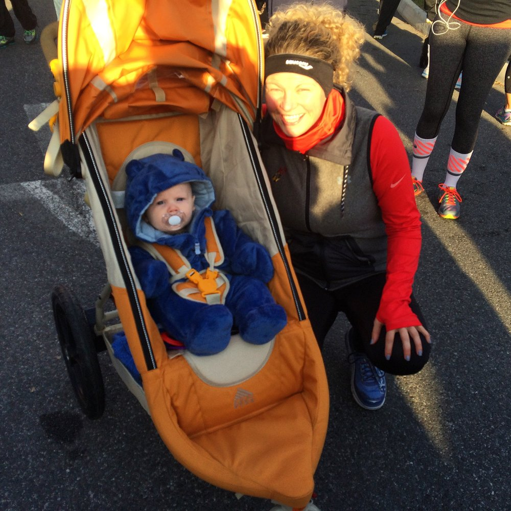 Walking the Turkey Trot in 2015.