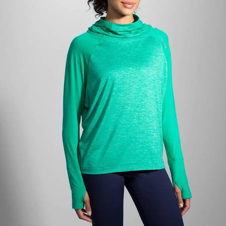 Women's Premium (Brooks Dash Hoodie in Green)