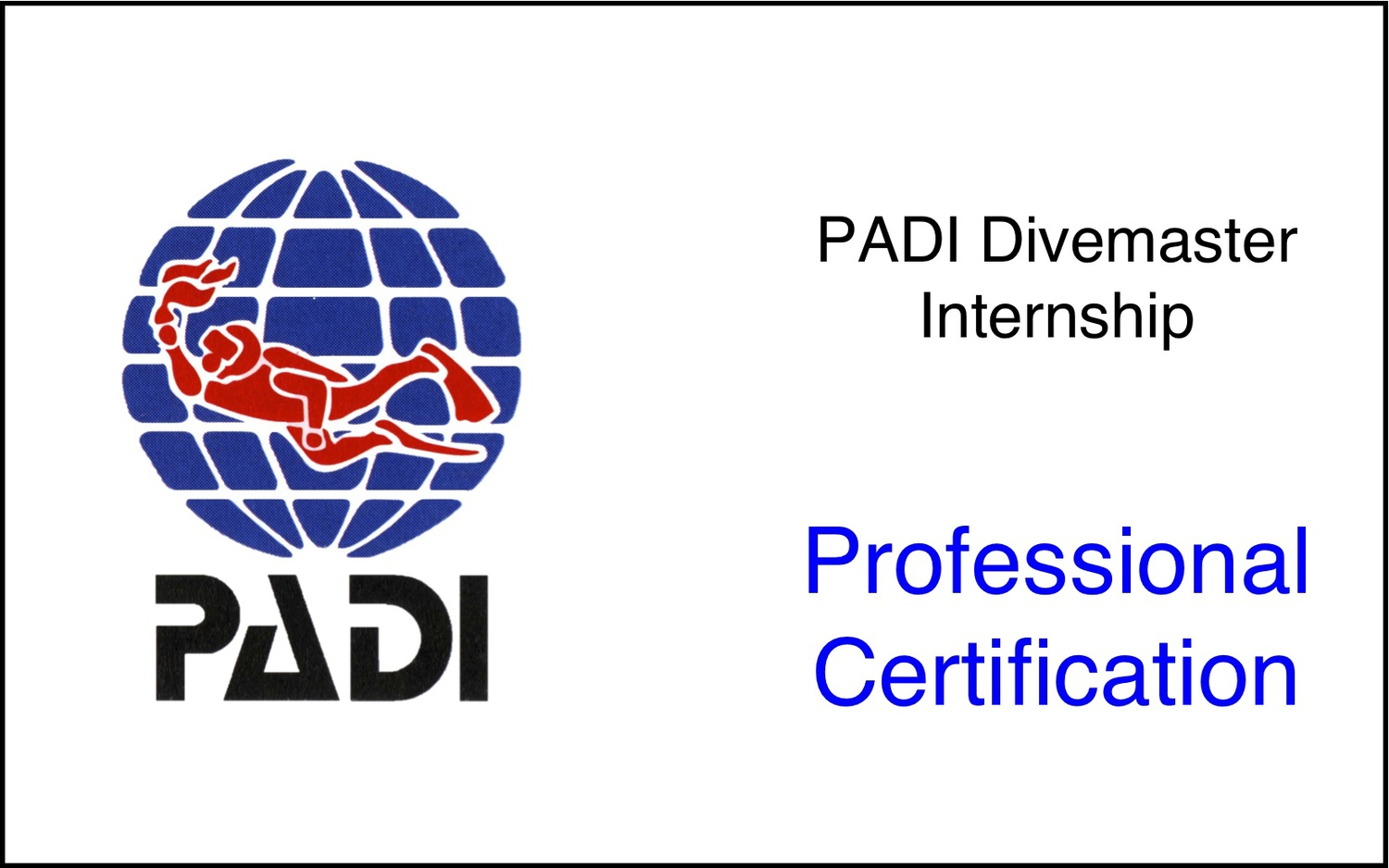 Padi Divemaster Ages 18 Dive Blue Home