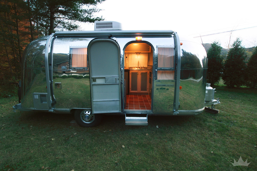 Once completed, this gem of an Airstream glowed from the inside out.