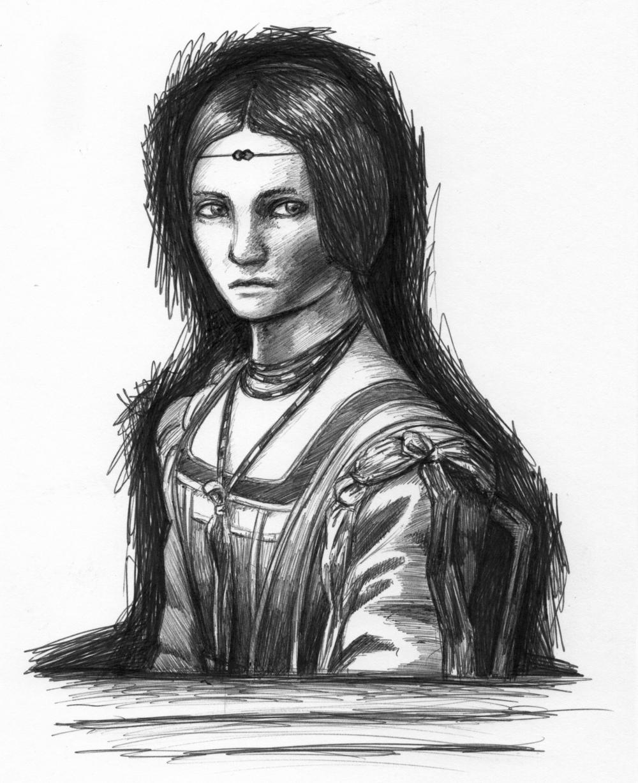 Day 03  -  La Belle Ferronniere (1496)   Leonardo Da Vinci (1452 - 1519)