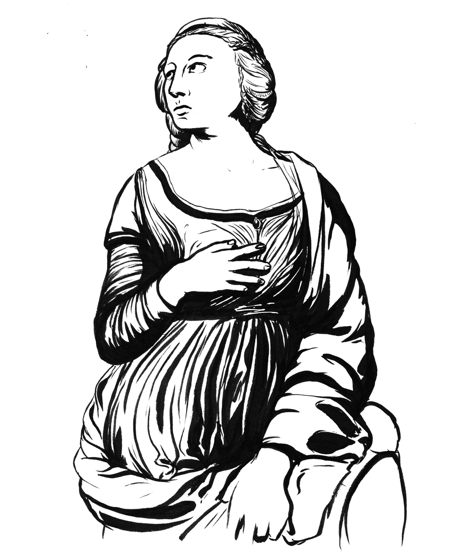 Day 10  -   Saint Catherine of Alexandria (1507)   Raffaello Sanzio da Urbino (1483 - 1520)