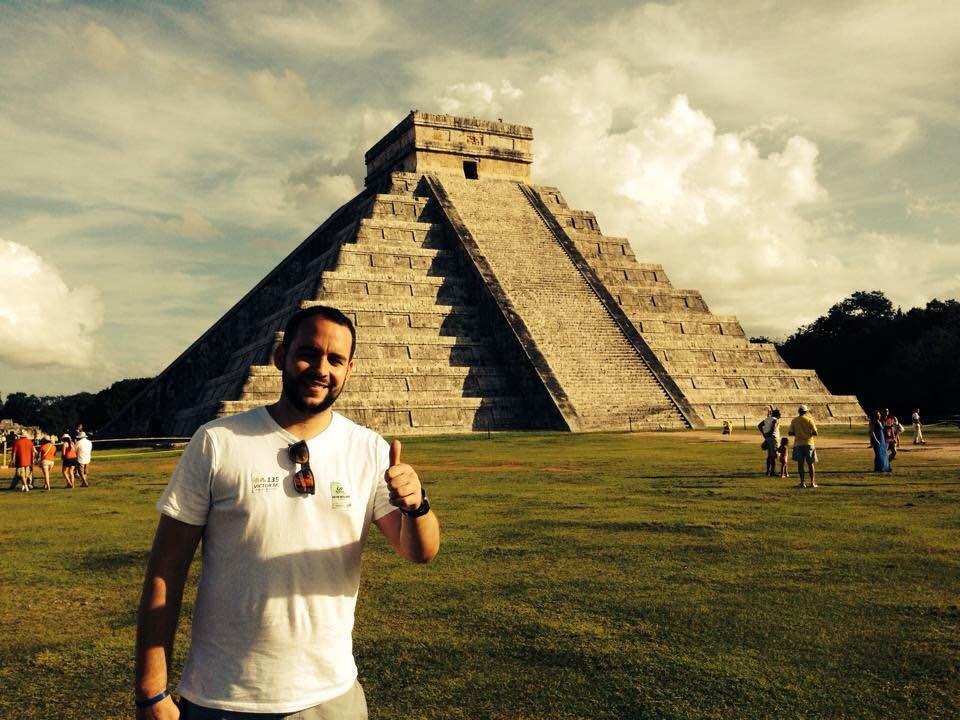 Pedro visiting Chichén Itzá, Yucatán, México two years ago.