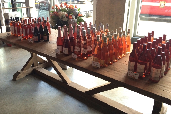 Some of the rotating rosé selections featured at our community table at Grand Cata.