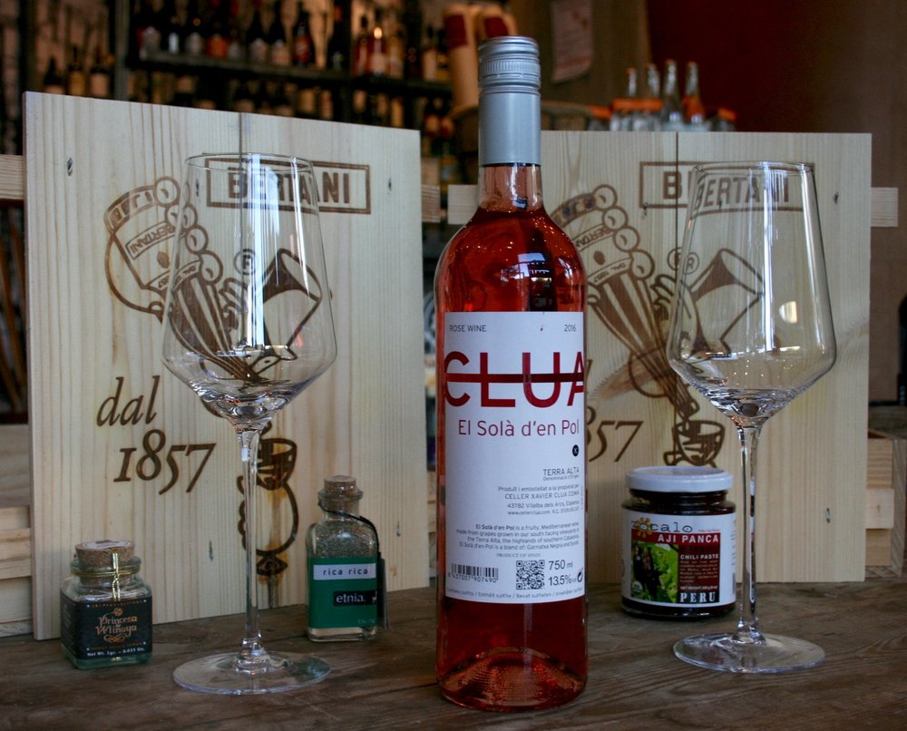 "Clua ""El Solà d'en Pol"" - Rosé 2016 - A wine that you can just pop the top off of (unscrew in this case) and pour. No need for breathing or decanting. In fact, you should replace the cap after each pour to keep it fresh."