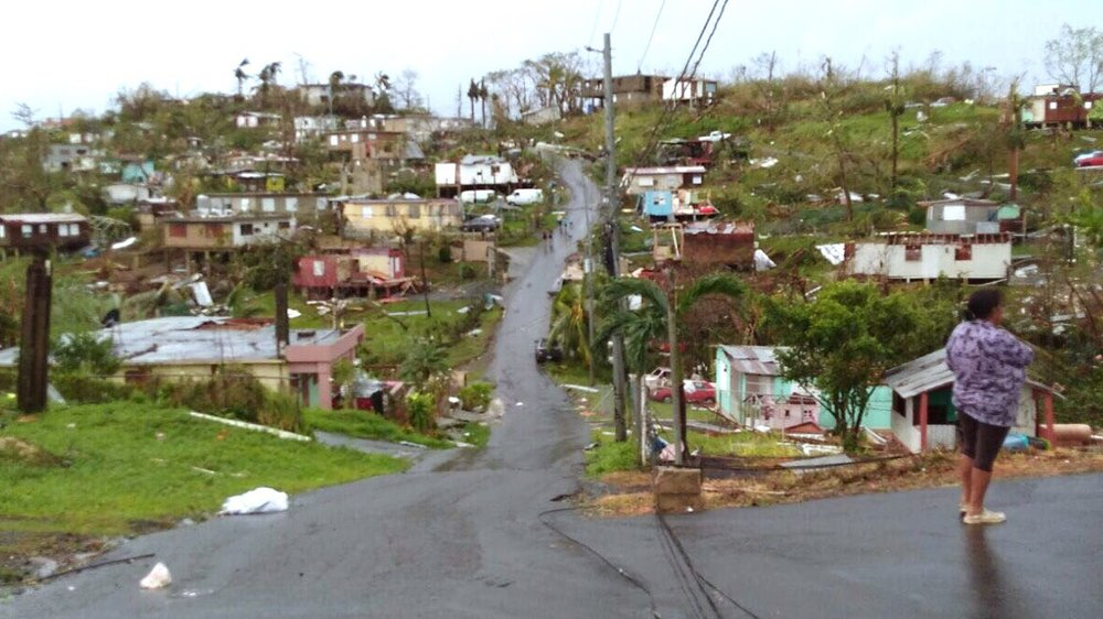 An unfortunately common scene in Puerto Rico following Maria