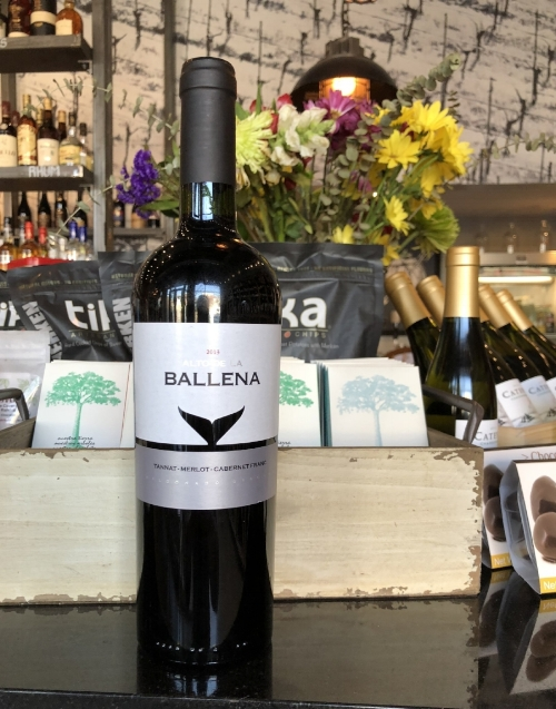 Alto de la Ballena Tannat-Merlot-Cabernet Franc 2013 - $23 - Only a portion is aged in American oak barrels, then reblended before bottling. This is a very common approach, as it pushes the flavors of the wood lower in the wine's profile so they only accent the wine instead of overpower it. The wine aged in the barrel will also be smoother, sweeter and softer than the rest of the wine, which adds overall balance.