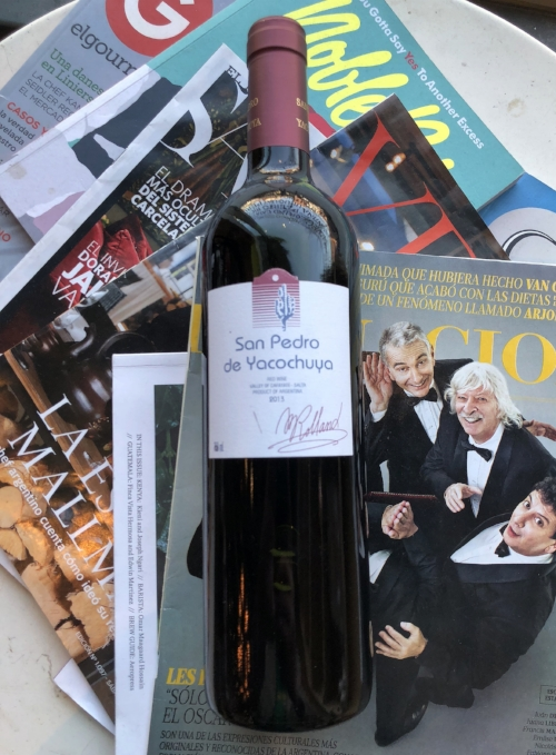 San Pedro de Yacochuya Red Blend 2013 -$32- 60% of the wine spends 12 months in new French oak.
