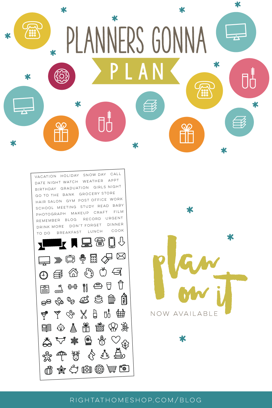 Right at Home Planner Stamp Release // Plan on It - Right at Home Shop