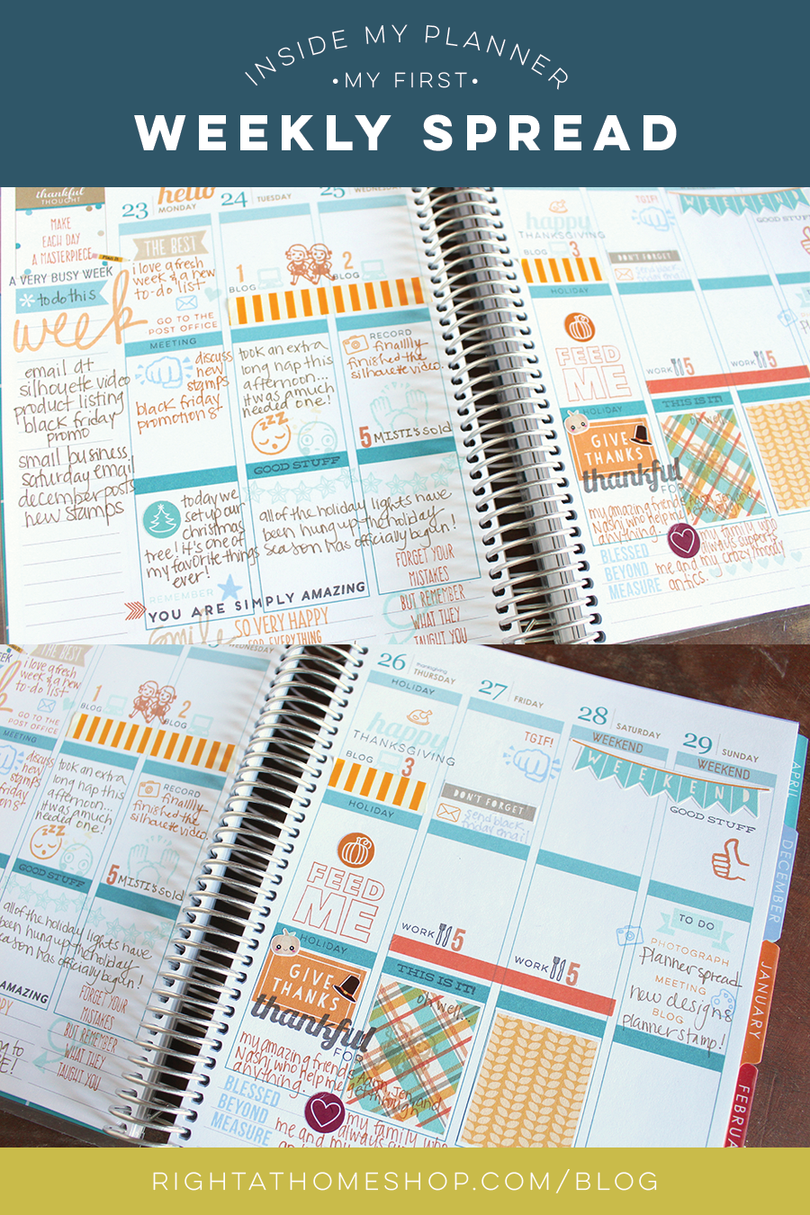 Inside My Erin Condren Life Planner // My First Spread - Right at Home