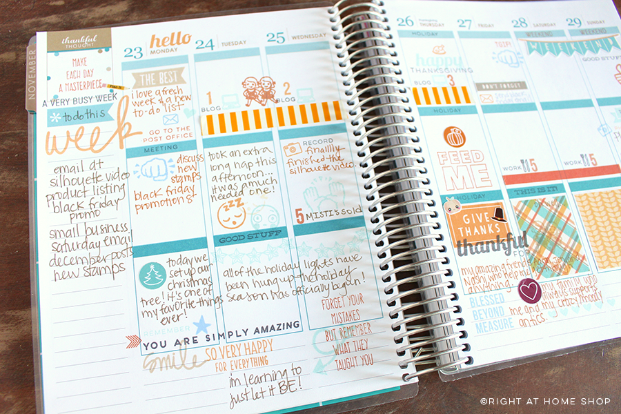 Inside My Erin Condren Life Planner // My First Spread - Right at Home Shop