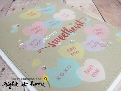 You're A Sweetheart by Holly // Right at Home Design Team - Right at Home Shop