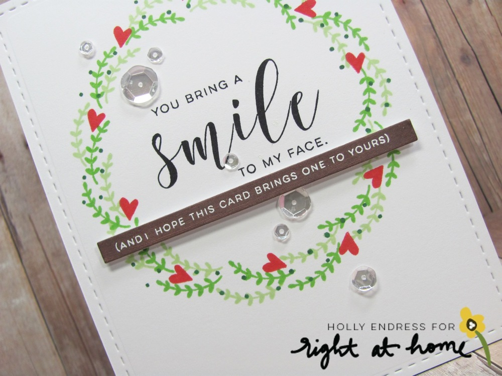 You Bring a Smile to my Face by Holly // Right at Home Design Team - Right at Home Shop
