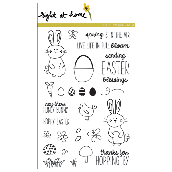 Right at Home Stamps Spring Release Now Available - Hoppy Easter // rightathomeshop.com