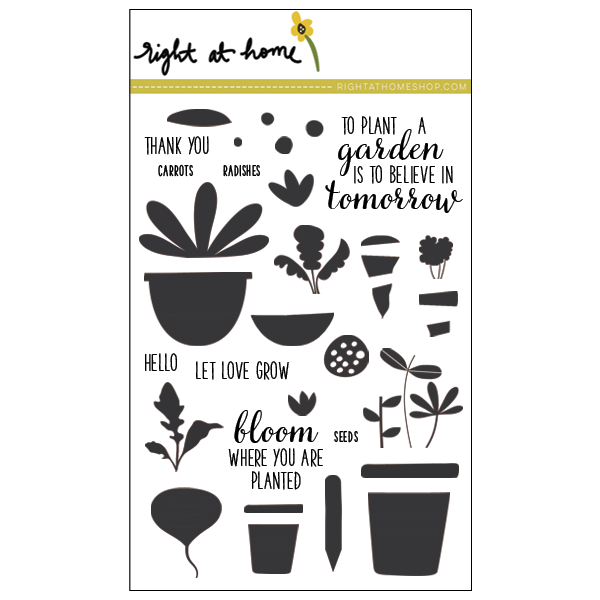 Right at Home Stamps Spring Release Now Available - Let Love Grow // rightathomeshop.com