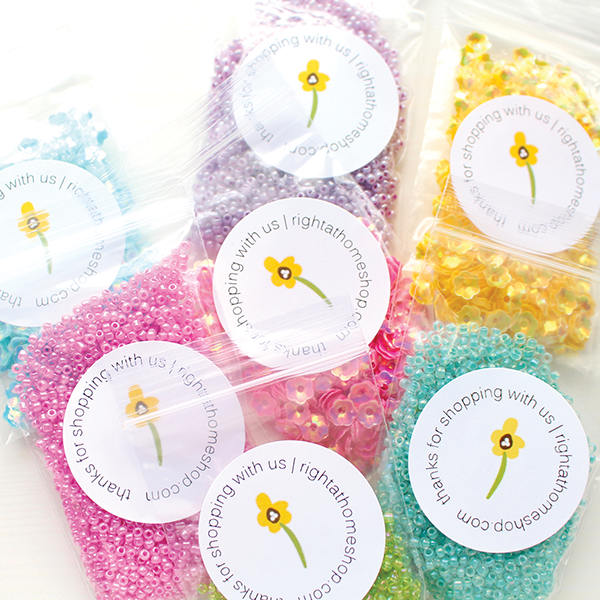 Right at Home Stamps Spring Release Now Available - Flower Sequins + Seed Beads // rightathomeshop.com