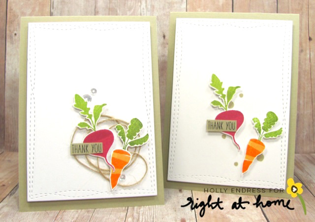 Thank You Cards + Matching Envelope by Holly // Let Love Grow - Right at Home Stamps Spring Release