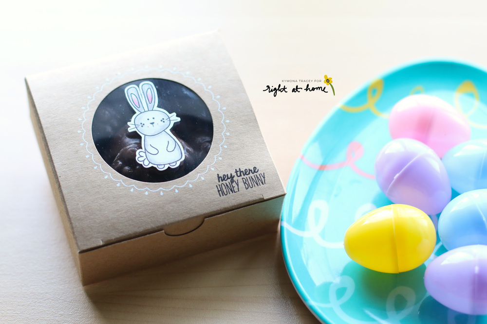 DIY Chocolate Bunny Gift Boxes by Kymona // Homemade with Love Day #2 - rightathomeshop.com/blog