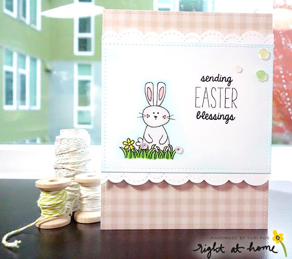 Sending Easter Blessings Card by Yuki // Hoppy Easter Spring Release - rightathomeshop.com/blog
