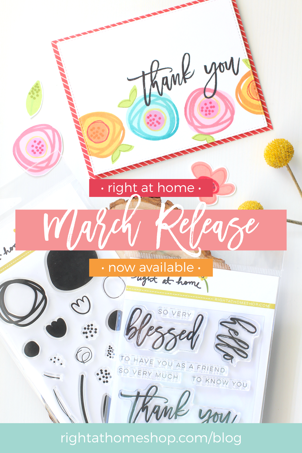 Right at Home Stamps March Release Blog Hop // rightathomeshop.com/blog